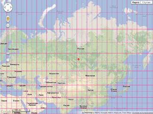 RUSSIAN map with latitude & longitude