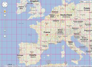 PosMap World Map With Latitude Longitude - Latitude and longitude of france